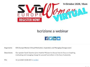 SVG Europe Women, dedicato alle...