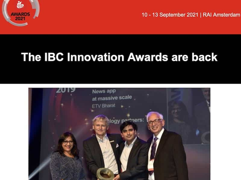 IBC 2021 Innovation Awards tempo...