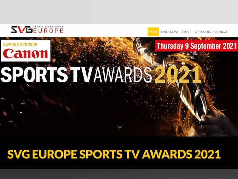 SVG EUROPE SPORTS TV AWARDS 20...